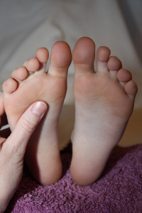 Childrens reflexology treatment